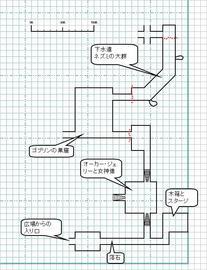 コラー・クエンの村の地下ダンジョン 攻略中MAP