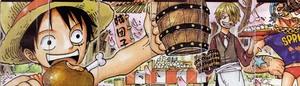 ワンピースつながる背表紙超ロングイラスト01〜08号